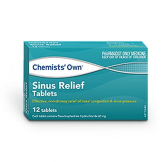 Chemists Own Sinus Relief 60mg | 12 tablets