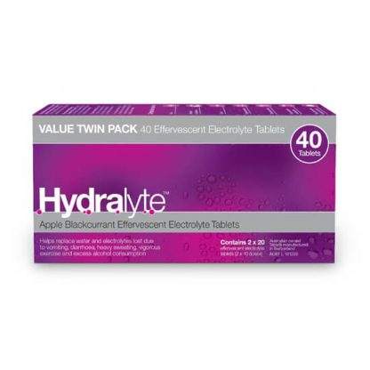 Hydralyte Tablets Blackcurrent | 40 pack